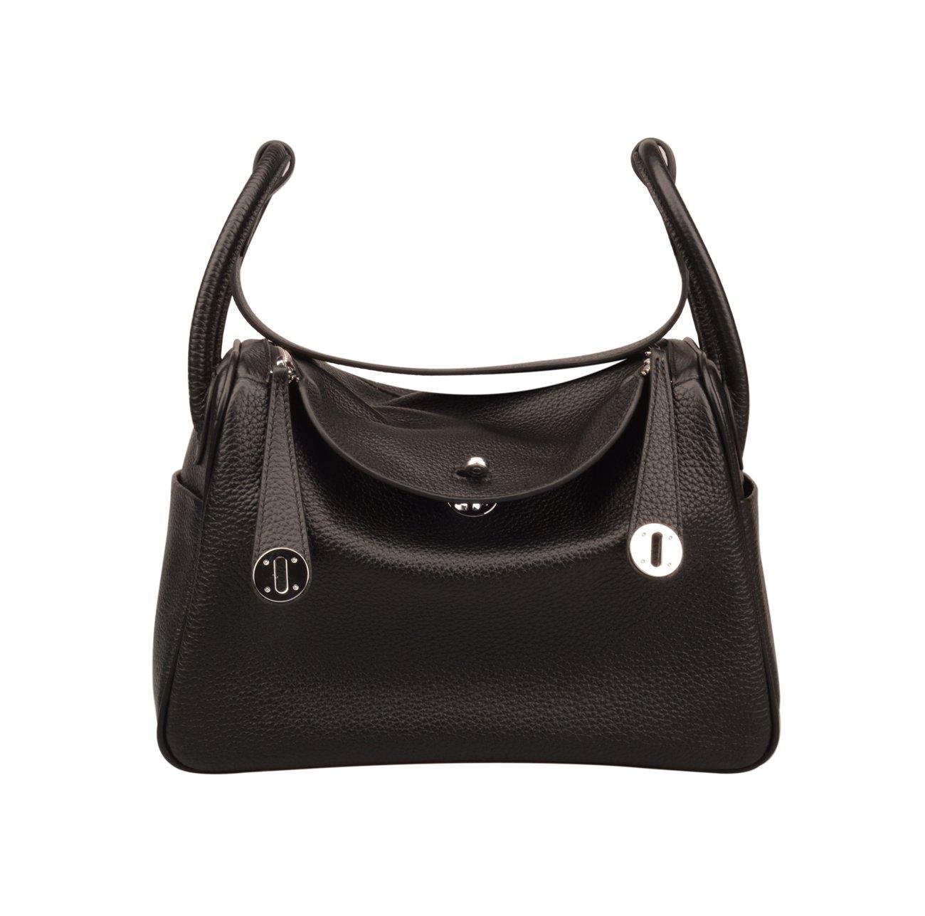 Ainifeel Women's Genuine Leather Shoulder Handbag And Purse Hobo Bag (Black)