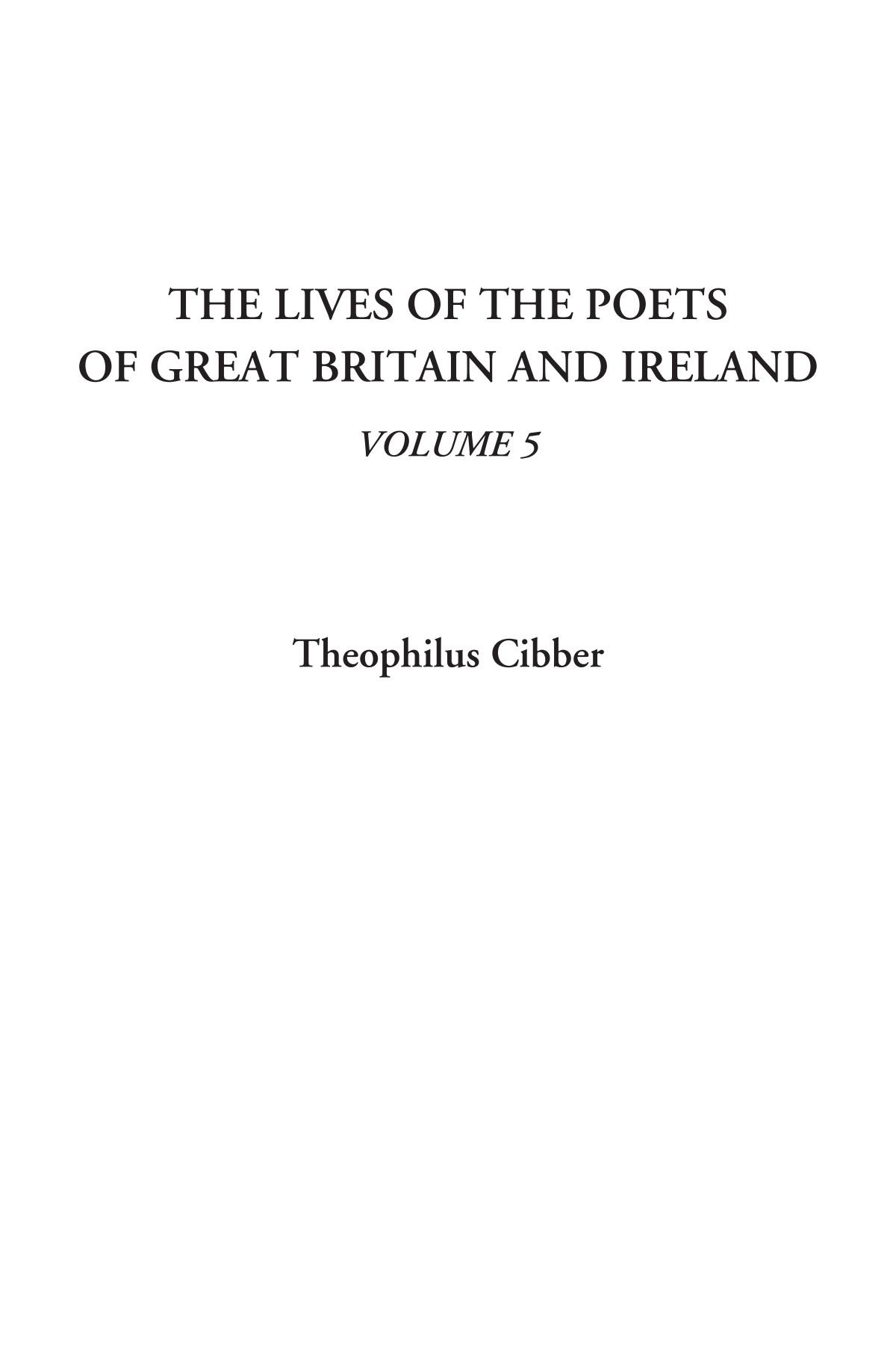 The Lives of the Poets of Great Britain and Ireland, Volume 5 PDF