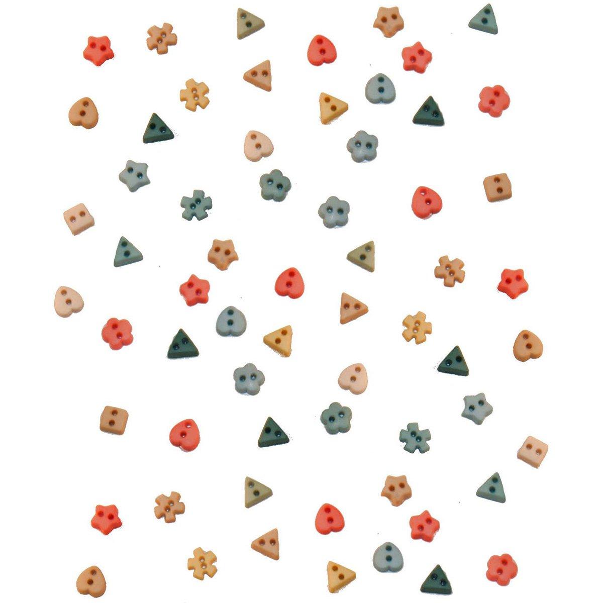 Jesse James Dress It Up Embellishments-Tiny Button Mix - Rainforest DIUBTN-2209