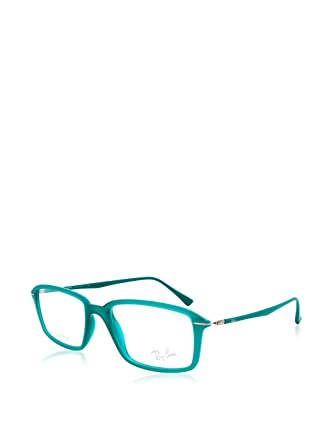 7bac954d4e Amazon.com  Ray-Ban Unisex 0RX7019 Demi Shiny Green One Size  Clothing