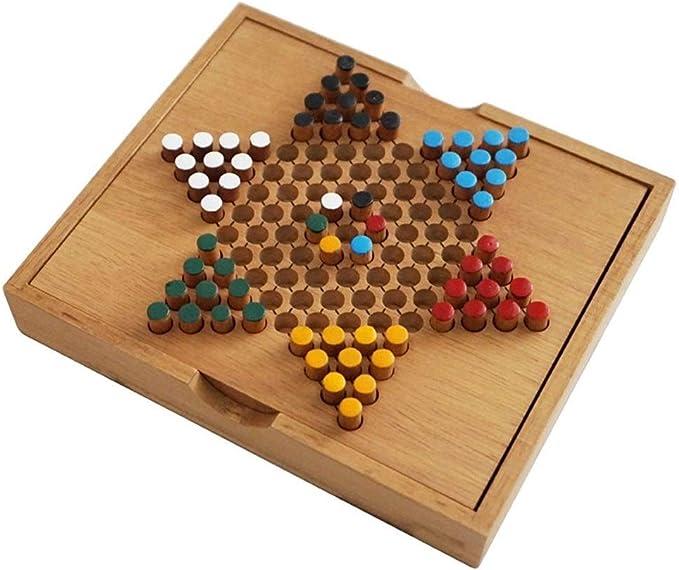 ZANGAO Popular Tradicional Mini Madera Cajas Chinas Damas clásico Juego de ajedrez portátil Familia Kid Entretenimiento Regalo Juegos de Mesa (Color : Multi-Colored): Amazon.es: Deportes y aire libre