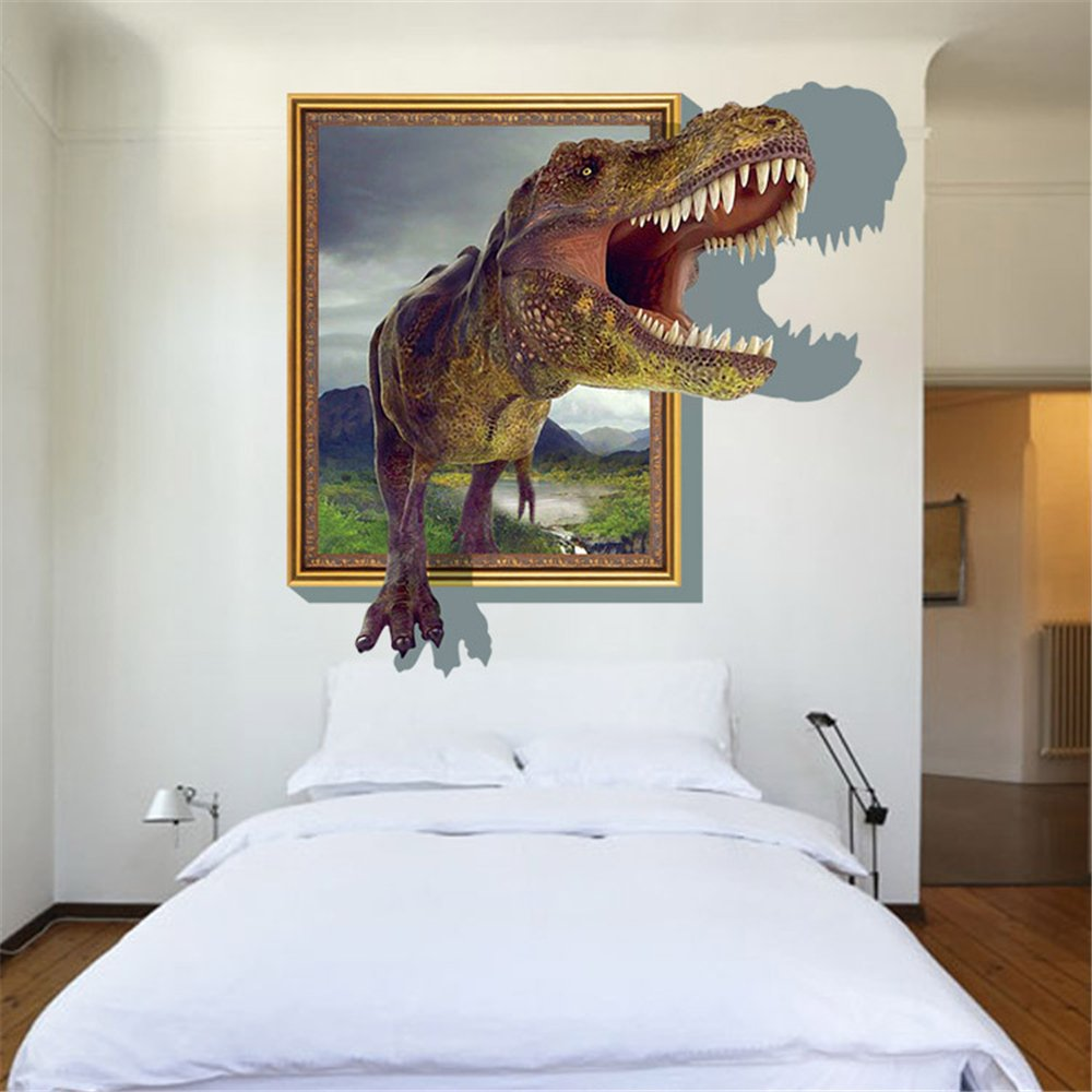 Sucis 3D Running Tyrannosaurus Rex Dinosaur Unique Removable Mural Wall  Stickers Wall Decal For Home Decor By BATA By YYone     Amazon.com Part 84