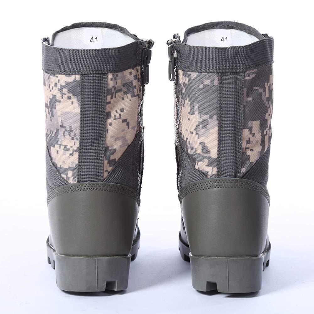 QIKAI Kampfstiefel Rutschfeste Wüstenstiefel Für Herren Im Herbst Und Fan Winter Tactical Stiefel Army Fan Und Kampfstiefel f877e8