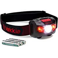 Ultra Bright CREE LED Headlamp - 200 Lumens, 5 Lighting Modes, White & Red LEDs, Adjustable Strap, IPX6 Water Resistant…