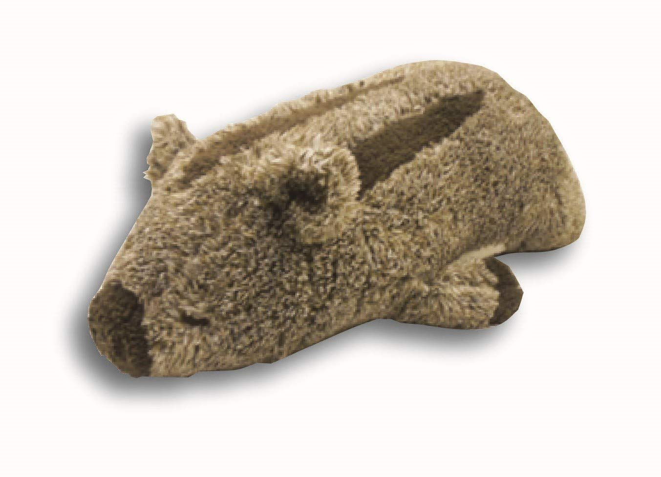 Livheart Wild Boar Fluffy Animals Pillow Plush Famous Dark Brown Inoshishi 'Uriri' Size M (21''x10''x6'') Japan Import 58626-13 Huggable Warm Super Soft Stuffed