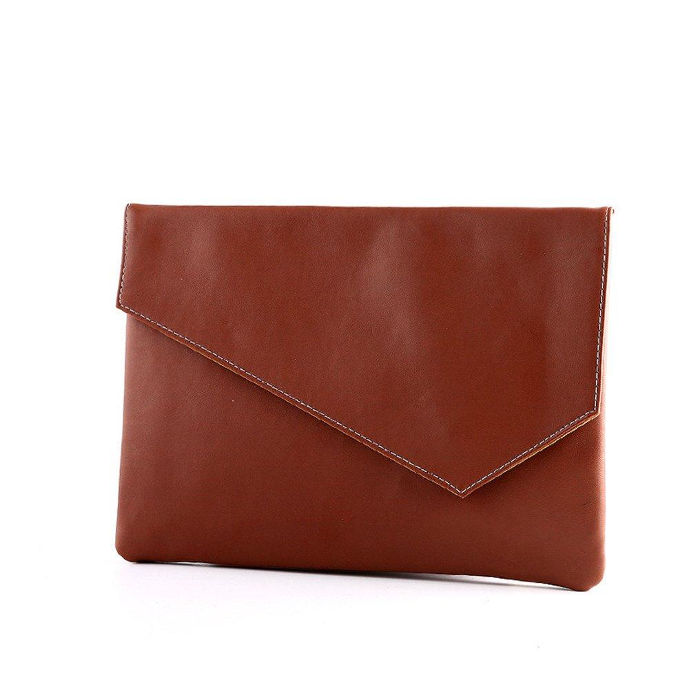 Shozafia Men Leather Clutch Briefcase Business Envelop Bag Folded Buckle Handbag