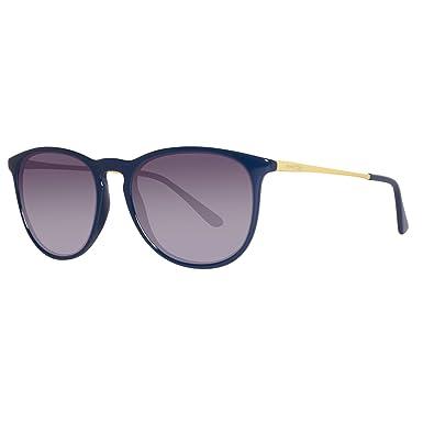 United Colors of Benetton BENETTON Unisex-Erwachsene Sonnenbrille BE983S03, Blau (Blue/Yellow), 56