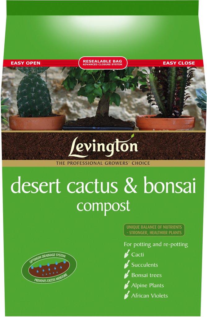 Levington Desert Cactus & Bonsai Compost - 8 Litre: Amazon.co.uk ...