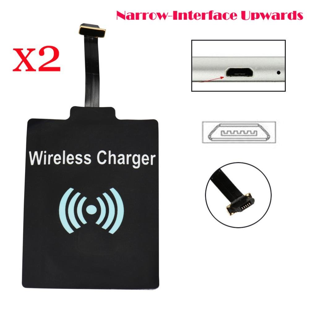 2PC Receiver Sinfu Qi Wireless Charging Receiver Card Charger Module Mat for Micro-USB Phone