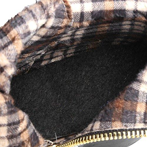 Ei&iLI Printemps des femmes / automne / hiver Bootie simili cuir extérieur / bureau & talon Chunky carrière / Casual , gray , 39