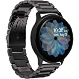 Aresh Compatible with Galaxy Watch Active 2 40mm Bands&Active 2 44mm Band,20mm Stainless Steel Strap Compatible for Samsung Galaxy Watch Active 2