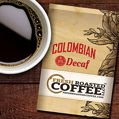Fresh Ground (Colombian Swiss Water Decaf Coffee, 2.25 oz. Fractional Packages, Ground, Fresh Roasted Coffee LLC. (24 Portion Packs))