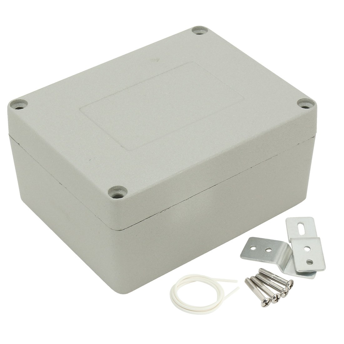 uxcell 4.5''x3.5''x2.3'' (115mmx90mmx58mm) Aluminum Junction Box Universal Electric Project Enclosure w Two Horns