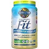 Garden of Life Raw Organic Fit Powder, Original - High Protein for Weight Loss (28g) Plus Fiber, Probiotics & Svetol, Organic