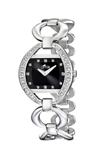 68df6a946ea0 Lotus 0 - Reloj de cuarzo para mujer, con correa de acero inoxidable, color  plateado