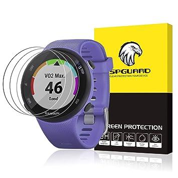 SPGUARD - Protector de Pantalla Compatible con Garmin Forerunner 945 [3 Unidades] antiburbujas para Garmin Forerunner 945 Smartwatch