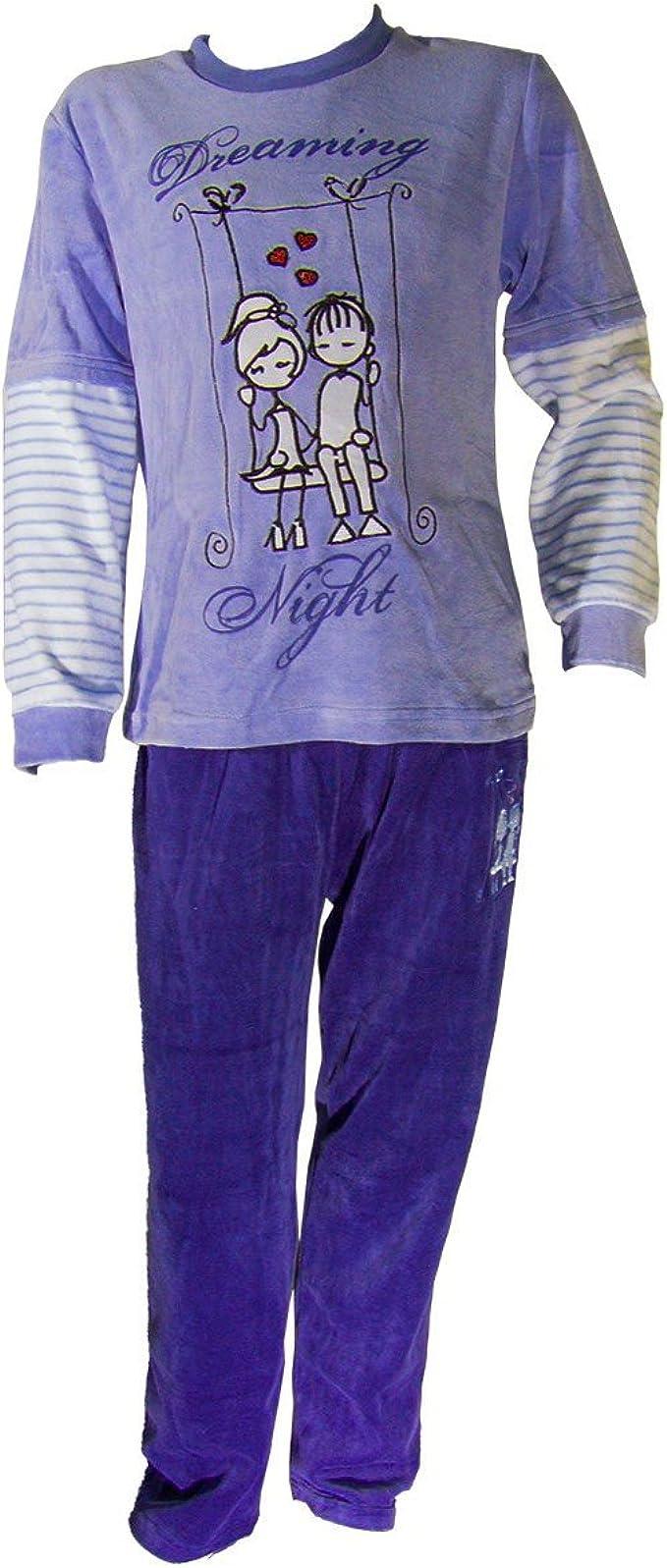 Pijama tundosado (Terciopelo) Manga Larga Niña - Juvenil ...