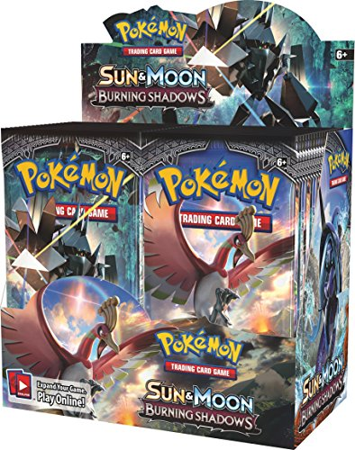 Pokemon TCG Sun & Moon Burning Shadows Booster Display Box Factory Sealed - Moon Display