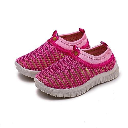 ZARLLE Zapatillas NiñO Color Caramelo Zapatillas para BebéS Zapatos De Bebé Malla Zapatillas De Deporte Transpirables