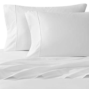 Wamsutta 400-Thread-Count Sateen King Sheet Set in White
