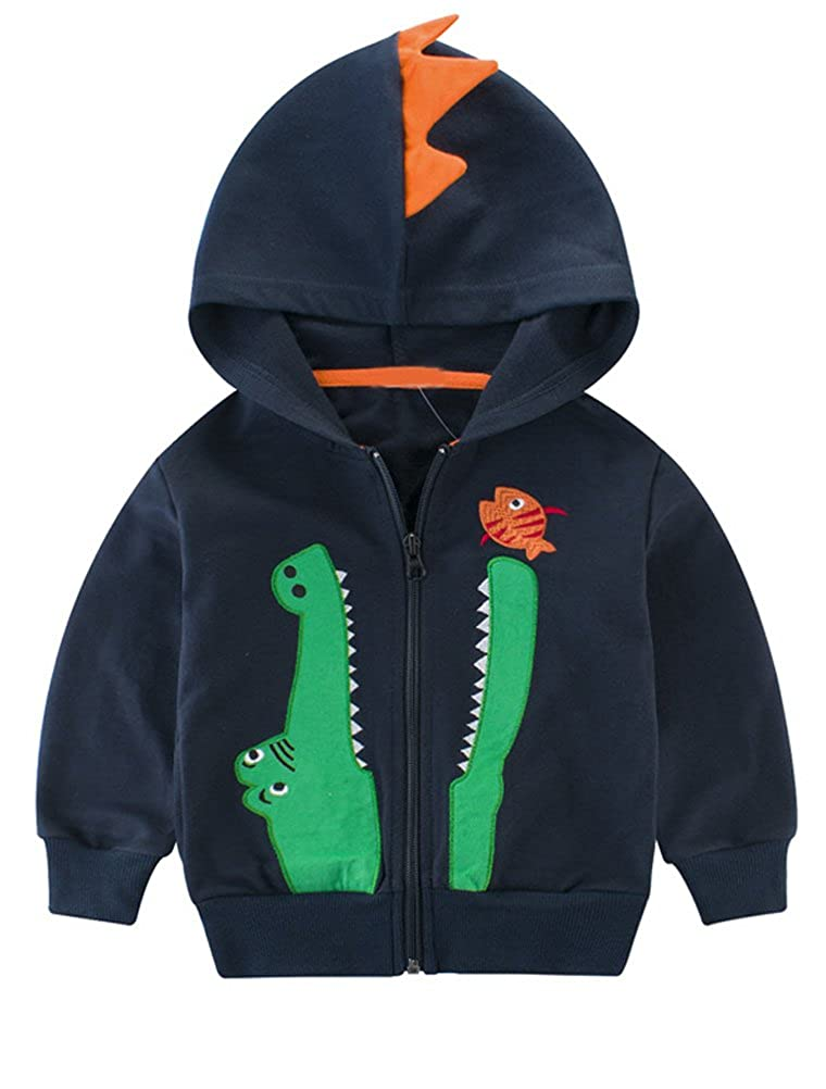 Mallimoda Boys Long Sleeve Zipper Sweatshirt Cartoon Jacket Hoodies