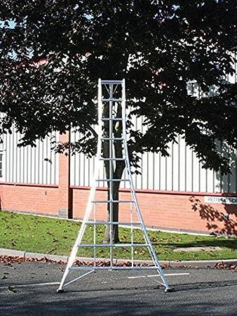Hendon Standard Tripod Ladder Gmf240 2 4m 7 9ft 8 Tread Aluminium Lightweight Frame 1 X Adjustable Leg Tested To En131 Amazon Co Uk Diy Tools