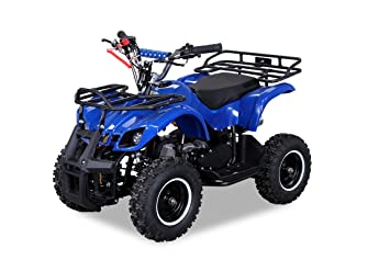 Nbike Hummer - Mini quad, 49 cc, 2 tiempos, dispositivo de seguridad para niños, gas regulable, ...