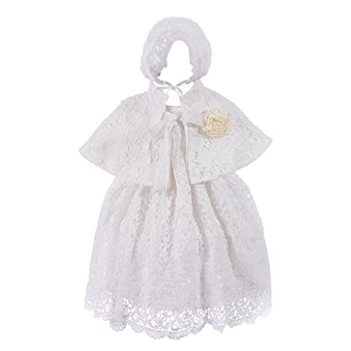2132cab61 Amazon.com  Xopzsiay Baby Girls Floral Lace Overlay Christening Gown ...