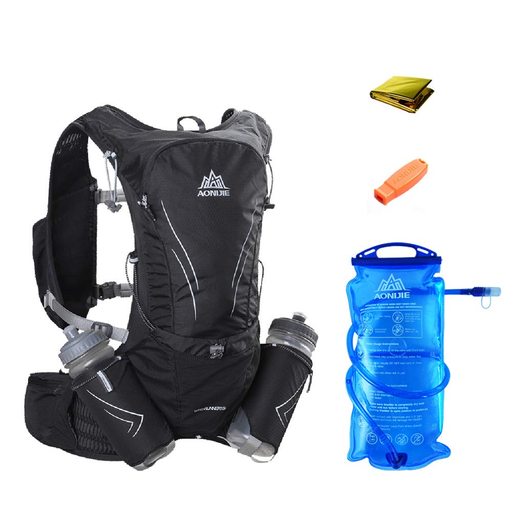 Aonijie Running Vest Pack Water Hydration Backpack 350ml Soft Sports Hat Diving Fabric Rose Flask Optional 3