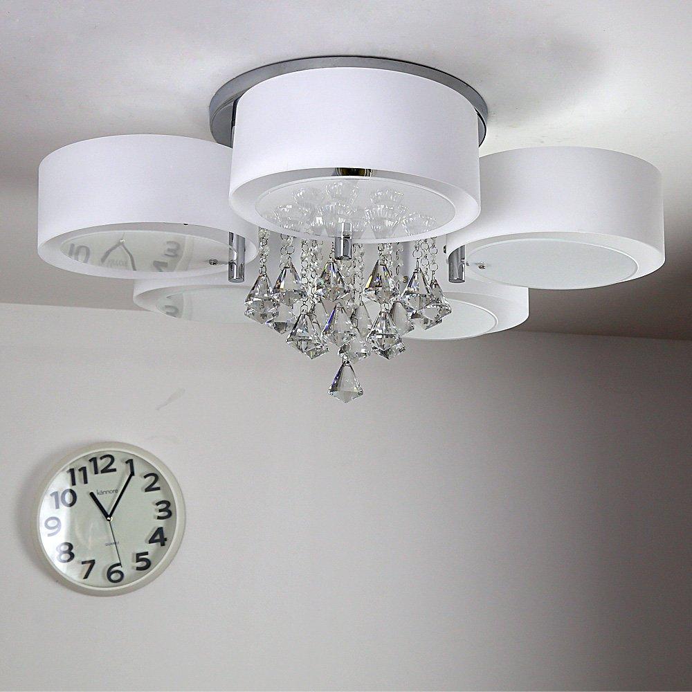 Natsen® Modern Deckenlampe 5-flammig Kristall Deckenleuchte Designer ...