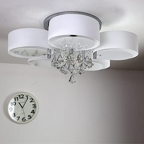 Natsen® Modern Deckenlampe 5-Flammig Kristall Deckenleuchte