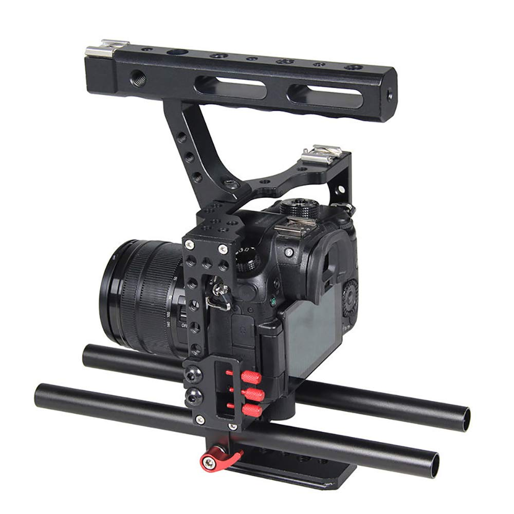 LFTS Fotógrafo Cámara Kit de Jaula de Video Estabilizador 15 mm ...