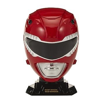 Bandai Power Rangers – Casco Collector Escala 1/4 – Ranger, 40222, Rojo