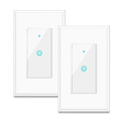 Smart Switch, Aicliv WiFi Light Switch Works with Alexa, Google Home on light at end with wire, light and fan switch wiring, light switch wiring ceiling fan, light switch with only two wires,