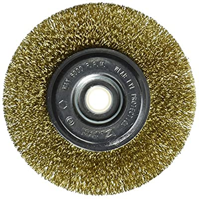 Vermont American 16799 5-Inch Course Brass Wire Wheel Brush with 1/4-Inch Hex Shank for Drill