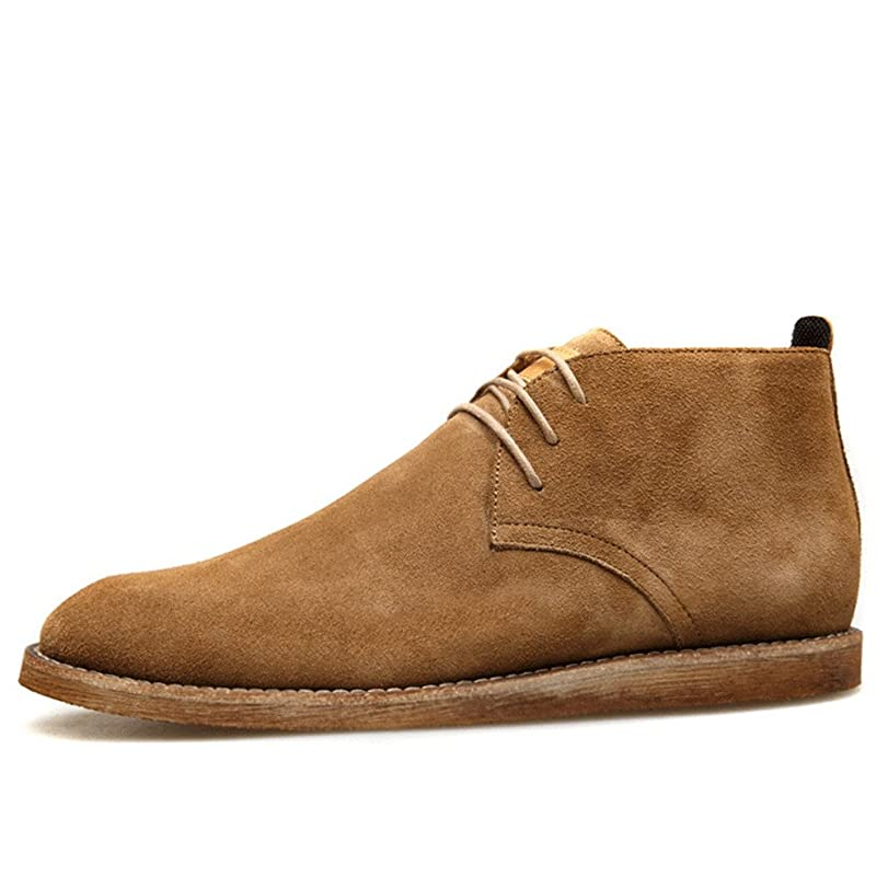 Men Casual Shoes Genuine Leather Vintage Cow Suede Boots Slip On Martin Boots