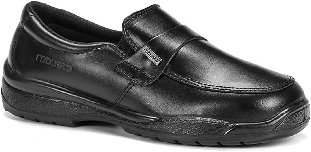Robusta-Zapato Anatómico Hostelería Doc O2 Negro: Amazon.es ...