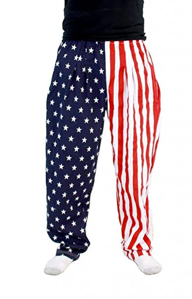 USA American Flag Lounge Pants Pajamas (Small)