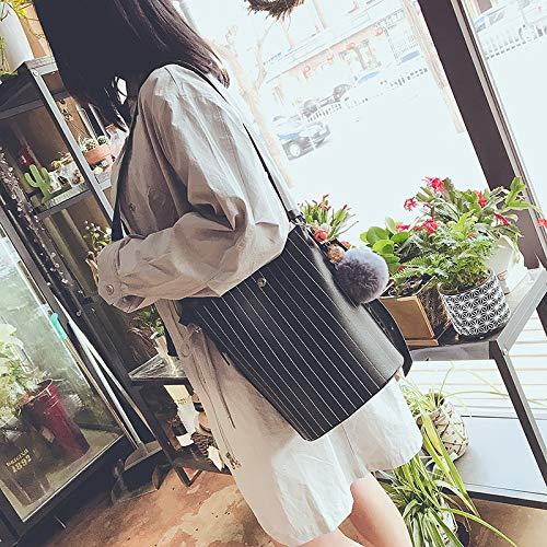 Le Mode en Sac WENLONG Ligne Sac Mode Brodé Épaule De Seule De Dame Black 5q1wWdHA