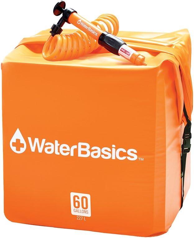 WaterBasics Emergency Water Storage Kit w/Filter (60 gal, RED-II-120)