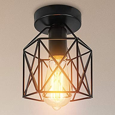 Retro Industrie Pendelleuchte Geometrisch Für Innen Vintage-Leuchte Deckenlampe