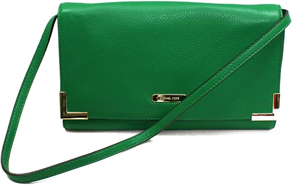 623a32724a45 Michael Kors Beverly Genuine Leather Oversized Clutch/ Shoulder Bag  Gooseberry (Green) #38S3XBVC3L