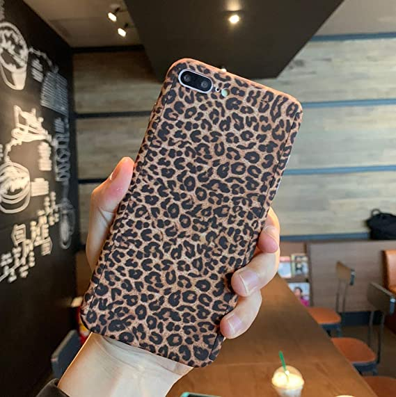reputable site 192e8 3ae2d iPhone Xs Max Case, Ebetterr Leopard Print 360 Degree Ultra Thin Full Body  Coverage Protective Dual Layer Hard Slim Case Cover with Tempered Glass ...