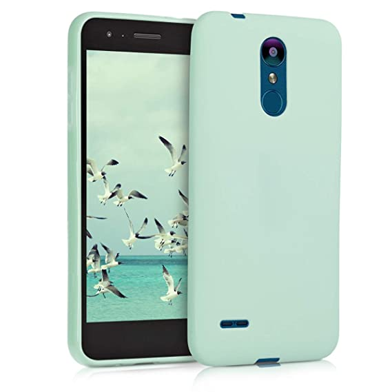 kwmobile TPU Silicone Case for LG K8 (2018) / K9 - Soft Flexible Shock Absorbent Protective Phone Cover - Mint Matte