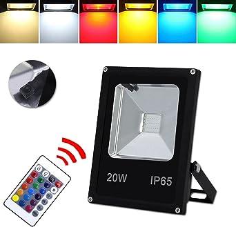 HG® Foco RGB 20W LED Proyector Resistente al agua IP65 Lámpara ...