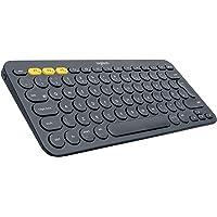 Logitech K380 Bluetooth-toetsenbord voor Windows, Mac, Chrome en Android donkergrijs (QWERTZ, Duitse toetsenbordindeling)