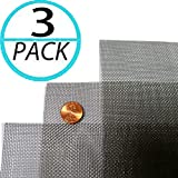 """(Pack of 3) Woven Wire 20 Mesh 12""""X24"""" 30cm X60cm"""
