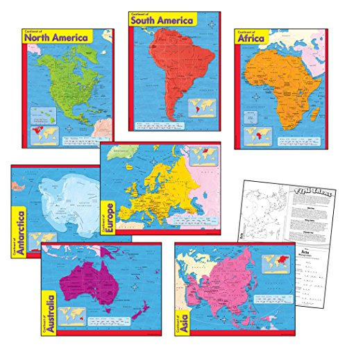 Trend Enterprises Continents Learning Chart Combo Pack (T-38930) Photo #4