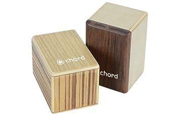 Chord 2 cajones de percusión pequeños de madera, para mano: Amazon.es: Instrumentos musicales