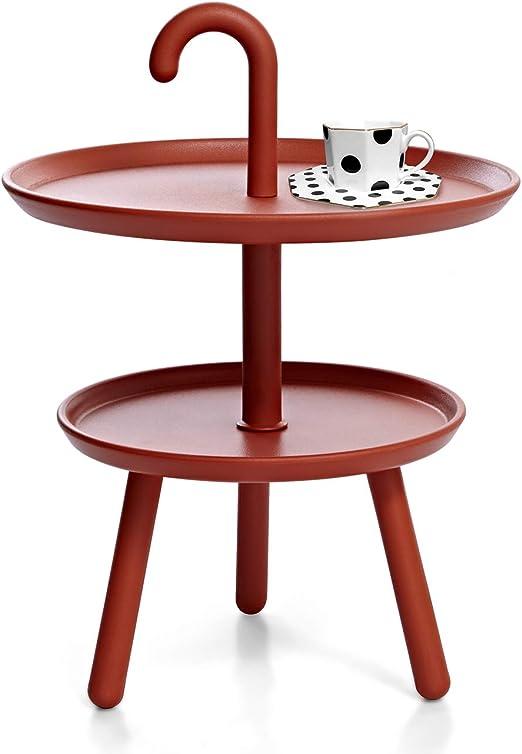 Suhu Table Basse Petite Ronde De Jardin Table Dappoint Plastique pour  Exterieur De Balcon Salon Mini Tables Basses Enfant De Camping Bistrot ...